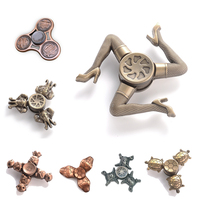 Bronze Fidget Spinner Finger ABS EDC Hand Spinner Tri For Kids Autism ADHD Anxiety Stress Relief