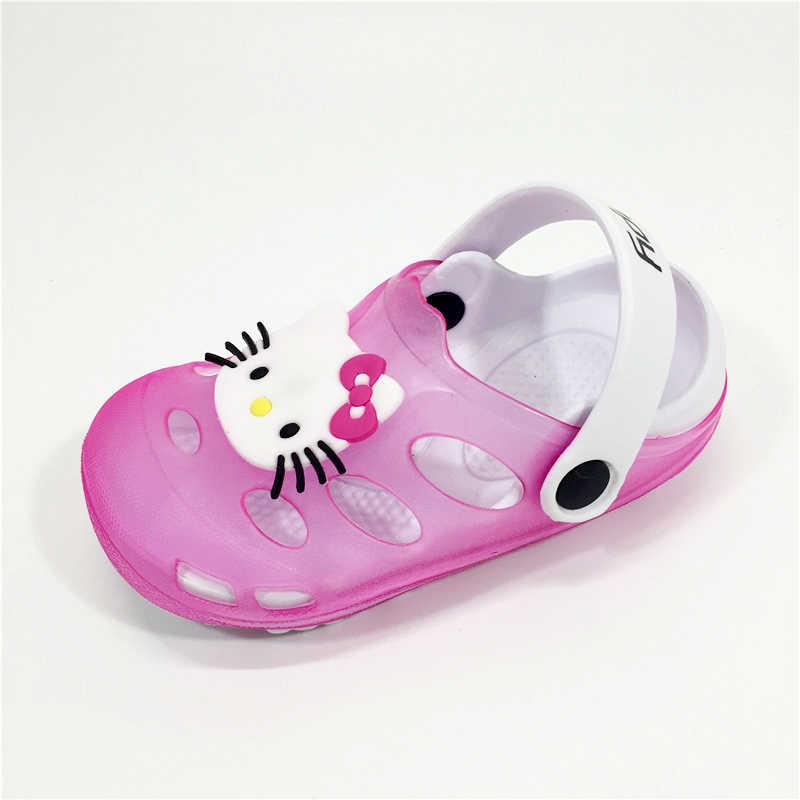5c404a5f2be54 KINE PANDA Hello Kitty Girls Jelly Garden Clogs Kids Tenis Infantil Baby  Pantufa Shoes Children Beach
