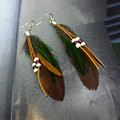 8 Colores bohemio plateado largo 10 cm pendientes de la pluma de perlas para las mujeres de joyería de moda de pasarela colgante pendientes brincos