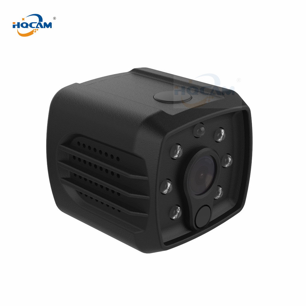 HQCAM 720P HD WIFI Mini Battery Camera Night Vision Motion Detect Mini Camcorder Loop Video Recorder Built-in Battery Body Cam hqcam 720p wifi wireless mini ip camera night vision motion detect mini camcorder loop video recorder built in battery body cam