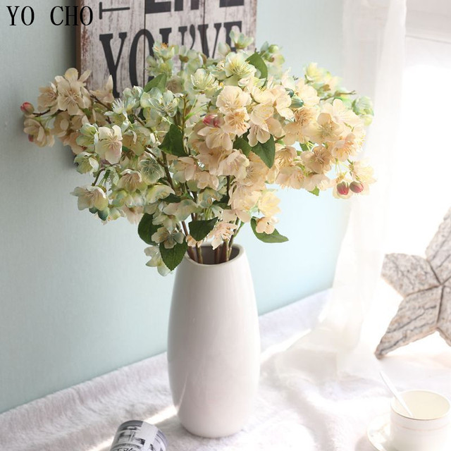 Yo cho diy home decoration orchid fake spring sakura artificial yo cho diy home decoration orchid fake spring sakura artificial flowers leaf cherry blossoms floral wedding mightylinksfo