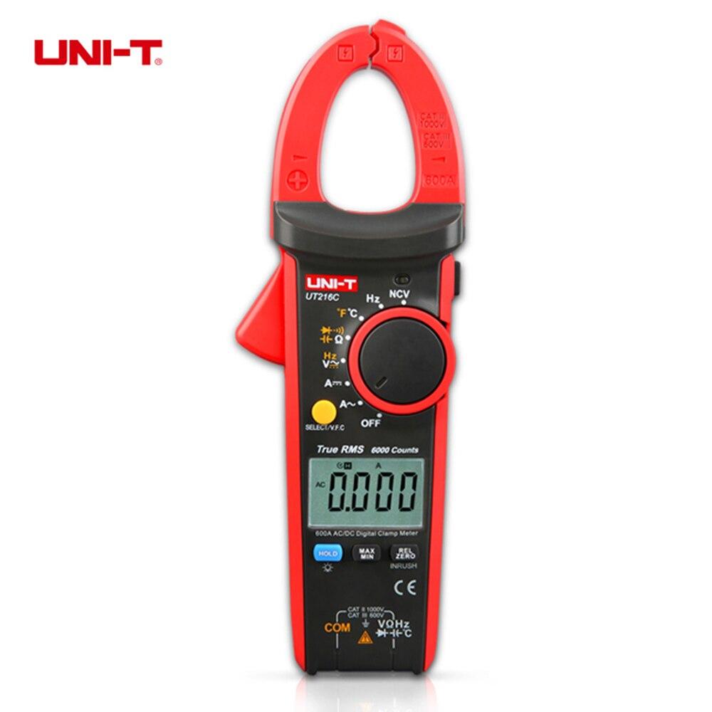 UNI-T UT216C 600A True RMS Digital Clamp Meters Auto Range w/Frequency Capacitance Temperature NCV Test  цены