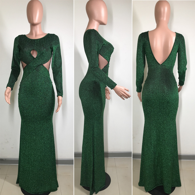 Image 5 - African Dresses For Women Floor Length Ropa Bazin Dashiki Long Sleeve Maxi Dress Party Club Formal Vestidos Africa ClothingAfrica Clothing   -