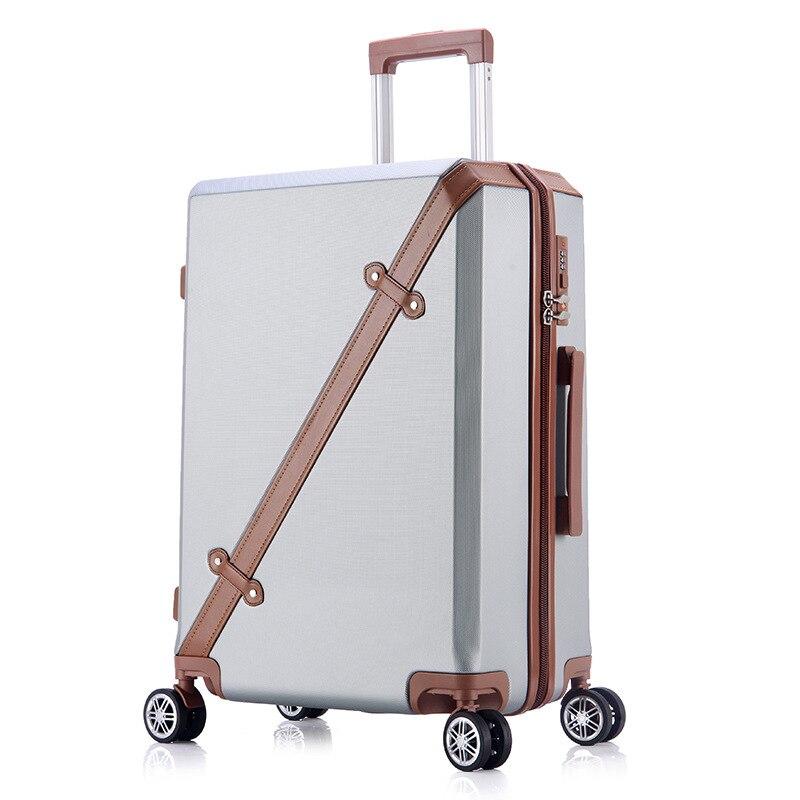Mode ABS haute qualité 20''22''24''26 ''unisexe Hardside Trolley bagages jeunes filles populaire classique Spinner valise de voyage
