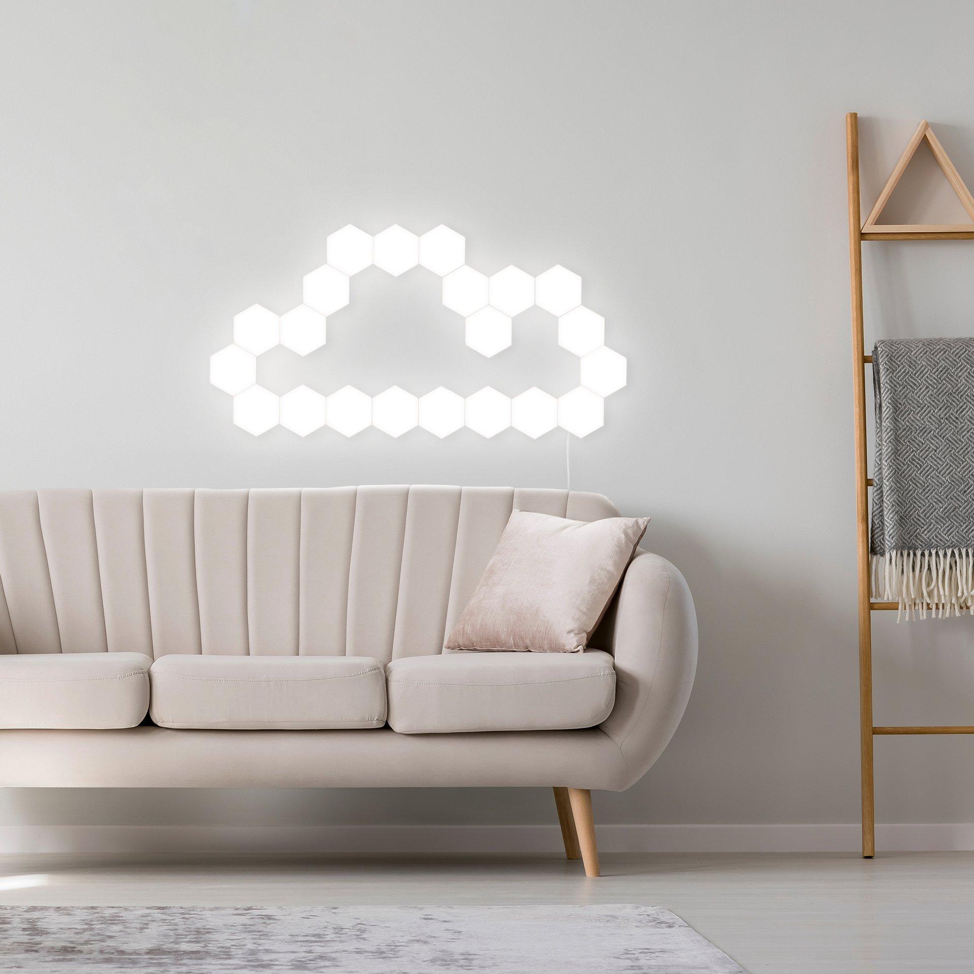 Квантовая лампа, светодиодные шестиугольные лампы, модульное Сенсорное освещение, ночник, магнитный Шестигранник, креативное украшение, на... - 6
