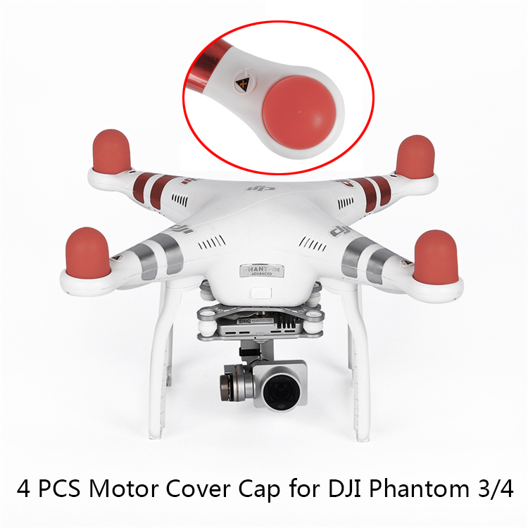 4PCS Motor Cover Cap For DJI Phantom 2 3 4 Pro Advanced SE Drone Engine Protector Dust-proof Soft Silicone Hat Spare Parts Kits