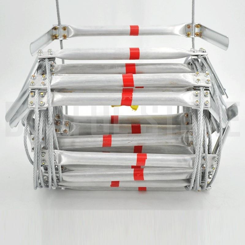 10 м пожарная ступенька безопасности 33FT складная стальная проволочная канатная лестница из алюминиевого сплава для спасения при аварийной ситуации устройства для гололеда