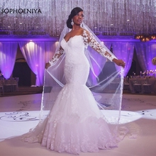 Sophoeniya Vestido De Noiva Long sleeve Wedding Dress