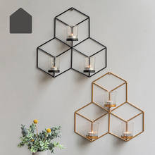 Cute Wall Mounted Tea Light Candle Holder Metal Candlestick Diy Home Decor China