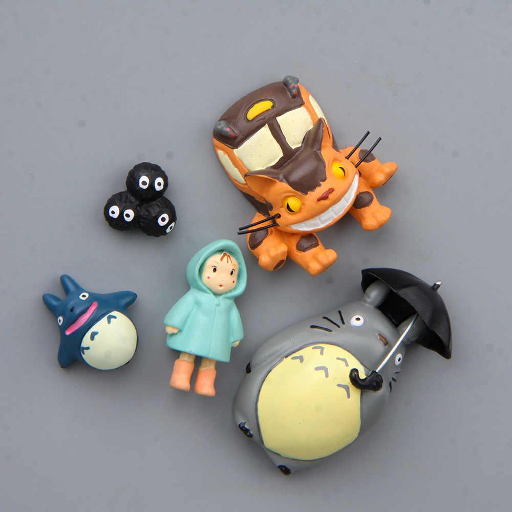 Zabawki koty parasol płaszcz przeciwdeszczowy Xiaomei niebieski kot autobus kreskówka kreatywne naklejki magnetyczne na lodówkę akcja i figurki do zabawy lalki