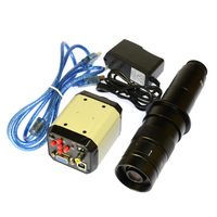 2.0MP HD цифровой промышленный набор микроскопов Камера Лупа VGA USB AV TV видео Выход 180X C MOUNT Стекло объектив PBC lab