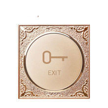 Champagne gold round 86 wall electronic access lock switch Access reset spring normally open