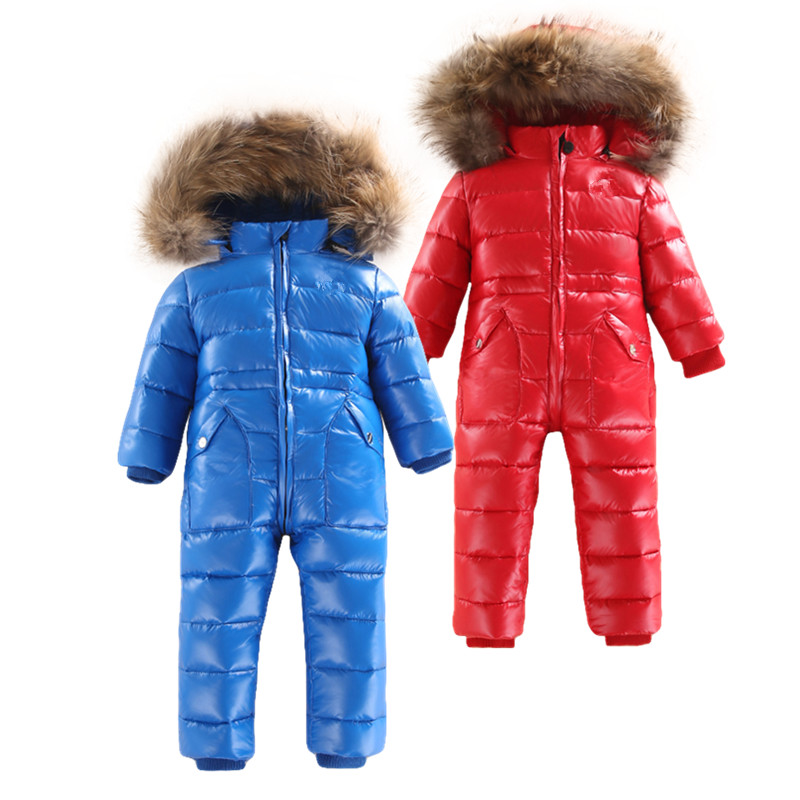-30 degree Russian winter children's clothing down jacket boys outerwear coats ,thicken Waterproof snowsuits Girls Clothing