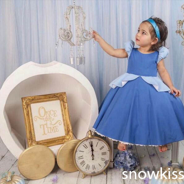 2017 new arrival cap sleeve satin formal birthday party dress Crew Neck Pleats A-line zipper back  toddler kids princess dress пазл галопом по снегу 500 шт