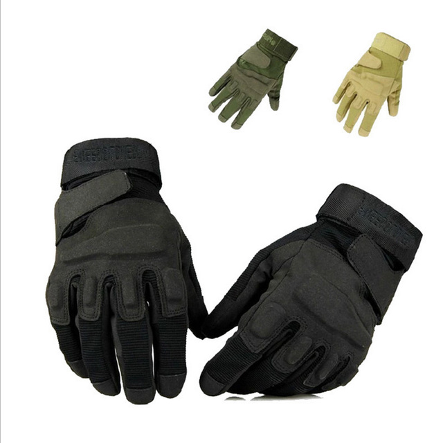 Mens CS Hunting Gloves Outdoor Military Tactical Fitness Special Forces  Police Gym Training Full Finger Hunter
