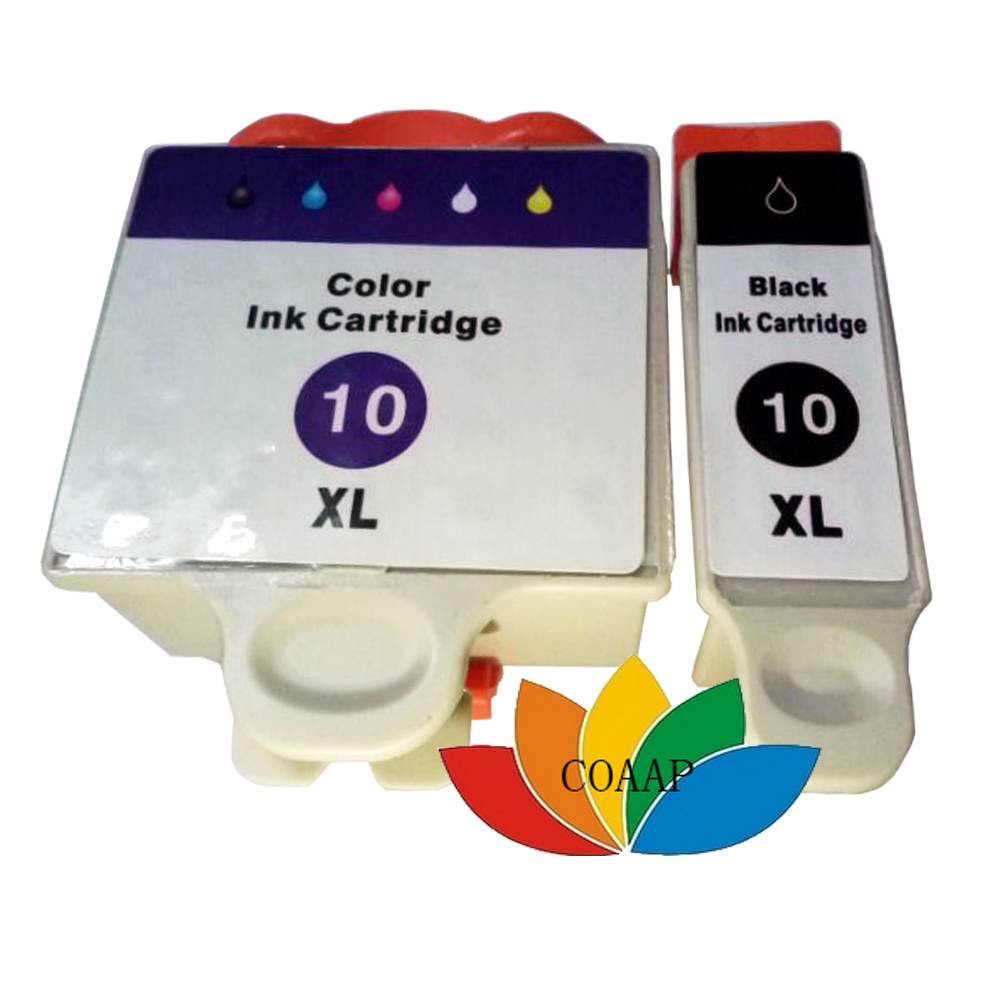 2 PCS Kodak 10 Compatible Ink Cartridge For Kodak ESP 5220/5230/5250/7250/9250 Printer