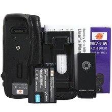 DSTE mb-d18 Батарейная ручка костюмы для Nikon D850 Камера equipe с Дистанционное управление + подключить кабель + EN-EL15 Батарея
