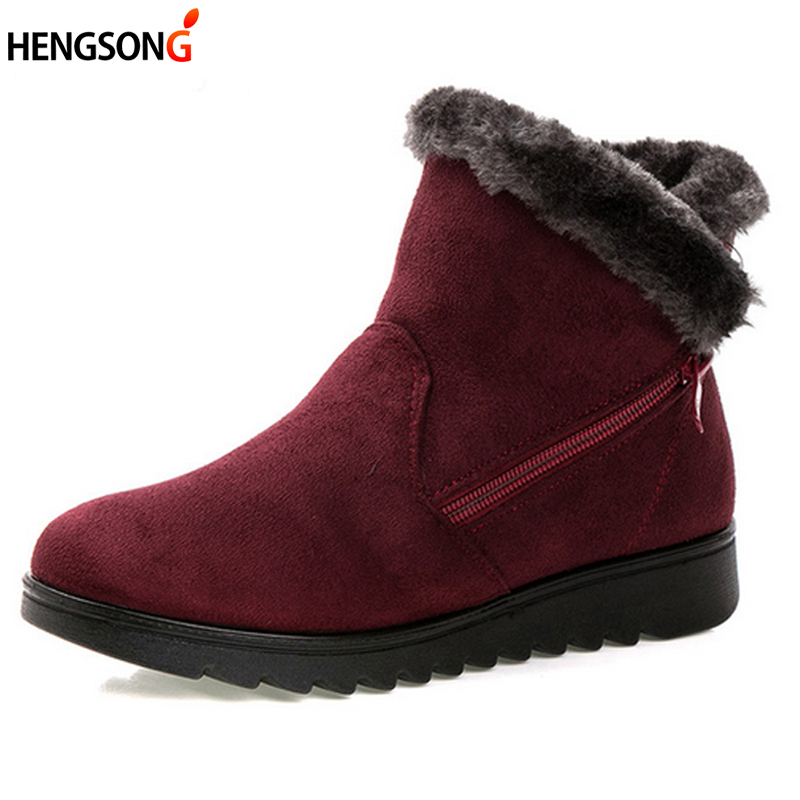 Woman snow boots Women winter shoes women's ankle boots fashion casual flat warm plush shoes female ladies 2017 new OR400880 women ankle boots 2016 round toe autumn shoes booties lace up black and white ladies short 2017 flat fashion female new chinese