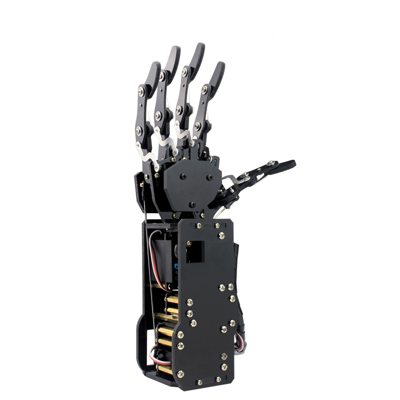платформа multi joint 6 leg robot 4 roboblock UHand Metal Manipulator Arm Robot  Arm Five Fingers Multi-controlling Phone PC Handle Built-in Bluetooth Power Switch Alarm 6CH