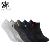 5 пар/лот дышащая Летняя Сетка хлопковые носки для мужчин черный белый чистый цвет спортивные мужские носки тонкий стиль Sokken Pier Polo 2019