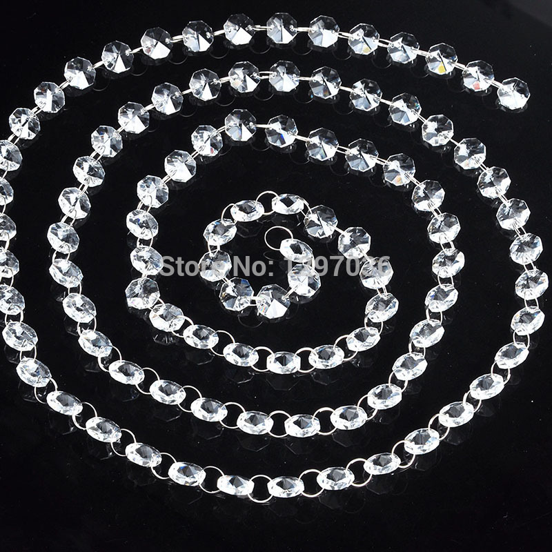 68feet glass crystal prisms 14mm octagon chandelier chain 68feet glass crystal prisms 14mm octagon chandelier chain chandelier parts lighting accessories garland strand curtain chain in figurines miniatures from aloadofball Images