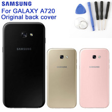 Samsung Glass Battery Rear Case For Samsung Galaxy A7 2017 Edition SM-A720 A720 Phone Battery Backshell Back Battery Cover Cases стоимость