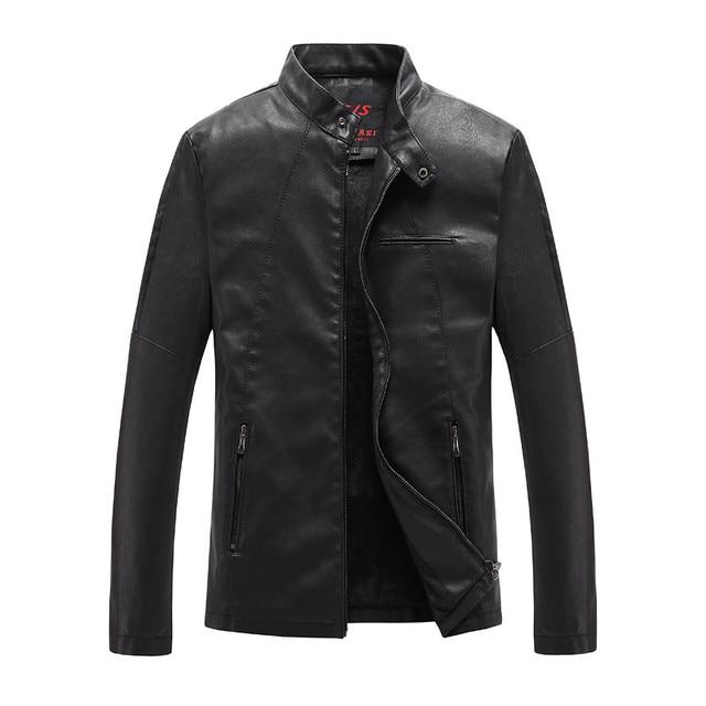 2017 Fall Fashion Winter Leather Jacket Men Leather Jacket Bomber Motercycle Biker Jacket