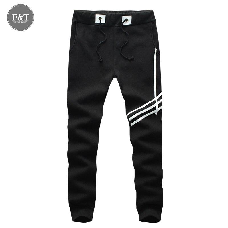 Men Gym Long Sports Pants Cotton Men