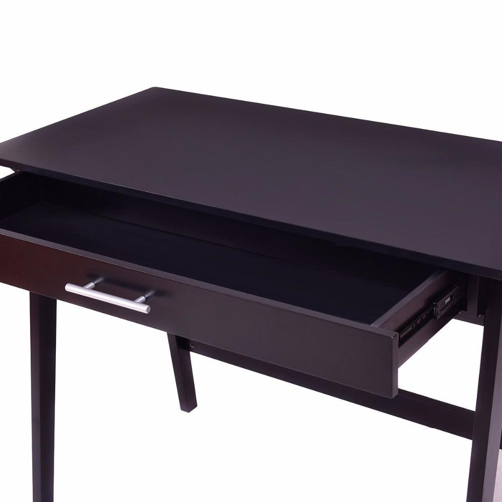Goplus haute qualité ordinateur bureau PC ordinateur portable écriture Table étude Wokrstation avec tiroir maison bureau moderne en bois Table HW56276 - 5