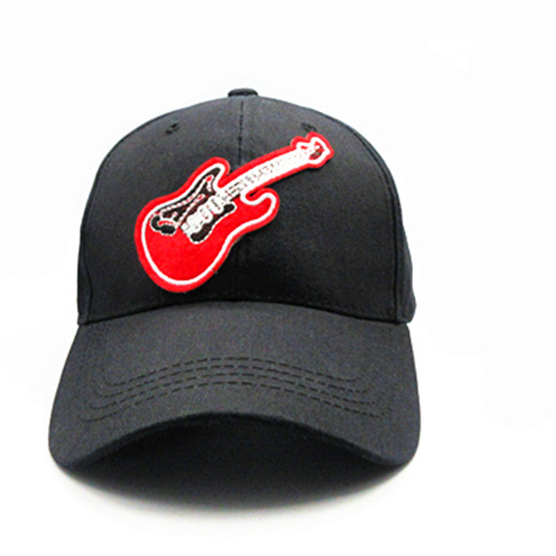 Snapback Hats Baseball-Cap Embroidery Adjustable Cotton Women Guitar for And 33 Hip-Hop-Cap