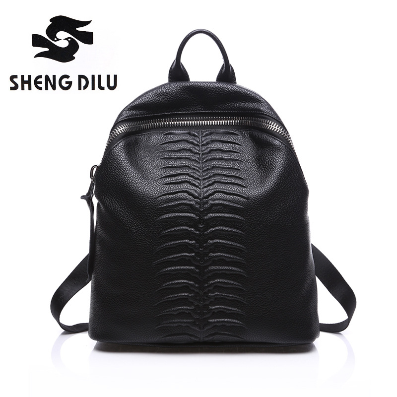Fashion Women Backpack High Quality Youth Genuine Leather Backpacks for Teenage Girls Female School Shoulder Bag Bagpack mochila детская футболка классическая унисекс printio медсестра