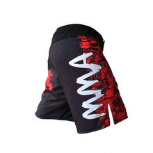 Free Shipping Fighting Shorts Muay Thai Boxing Pants Mens Sport Clothes M-XXXL Boxeo Combat Golden Flame