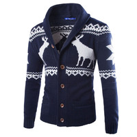 The North Of Men S Winter Christmas Sweater Cardigan Xmas Knitwear Coat Jacket Sweatshirt Face