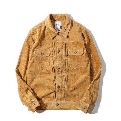 Automne Vintage hommes velours côtelé vestes mâle mode Oversize Streetwear manteau mâle Hip Hop Bomber baseball coupe-vent A72410