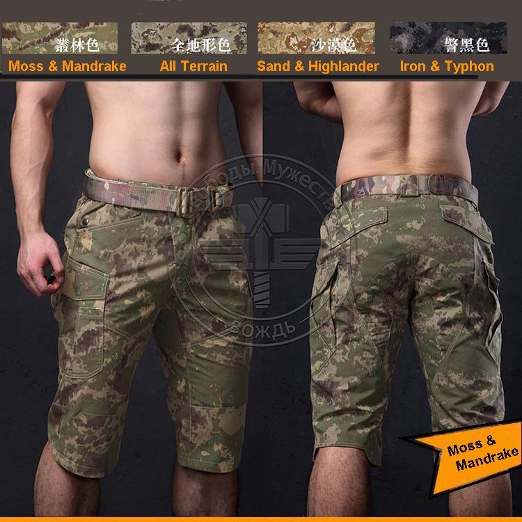 Short-Pants Mandrake Tactical Men's Camo Moss Ripstop Lichen Natrual