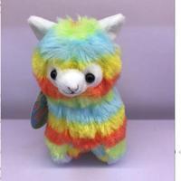 10PCS Lot 17CM NEW Rainbow Alpaca Plush Toy Japanese Soft Plush Alpacasso Baby 100 Plush Stuffed