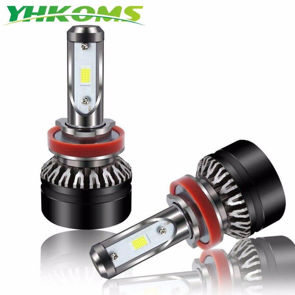YHKOMS H11 LED Bulb H8 LED Car Headlight 9005 HB3 9006 HB4 H1 H3 H4 H7 Car Light Bulbs Automobile Headlight Bulbs 40W 5000LM