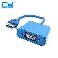 USB 3.0 vers VGA D'affichage Vidéo Externe Câble Adaptateur Convertisseur Externe vidéo Graphique Carte Chaude Dans Le Monde Entier pour Gagner 7 8 10 Mar01