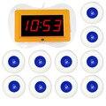 Sistema de Paginación Restaurante Wireless Receptor de Información de Voz de Acogida + 10 unids Llamada Azul Transmisor Botón F3256