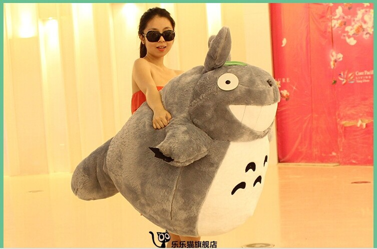 anime totoro doll laugh happy totoro plush toy huge 125cm , birthday gift t8698 the huge lovely hippo toy plush doll cartoon hippo doll gift toy about 160cm pink