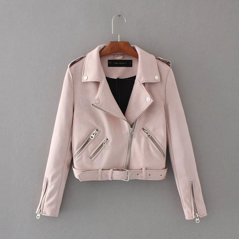 Suede Jacket Short Spring Street Basic Lika Rulla Top-Brand Fashion Women Ladies New