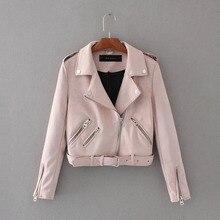 2019 ليكا رولا أفضل ماركة S XL ربيع جديد الموضة مشرق الألوان السيدات سترة بجلد مزأبر الأساسية الشارع المرأة قصيرة بولي Leather سترة جلدية
