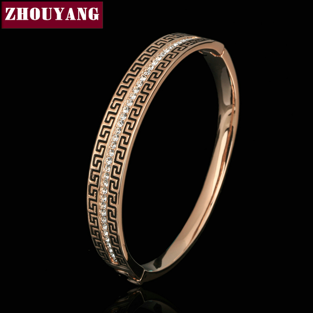 Top Quality Retro  Rose Gold Plated Jewelry Made with Genuine  Austrian Crystals WholesaleZYB051