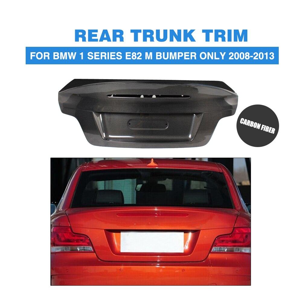 Para BMW 1-série E82 1 m Cargon Pára APENAS Traseiro De Fibra de Carbono Tampa da Mala do Tronco Tampa de Cobertura 2008 -2013 Peças de Carro Tuning