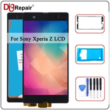 L36H LCD For Sony Xperia Z L36h L36i C6606 C6603 C6602 C6601 C660X LCD Display Touch Screen Digitizer Part For Sony Xperia Z lcd(China)