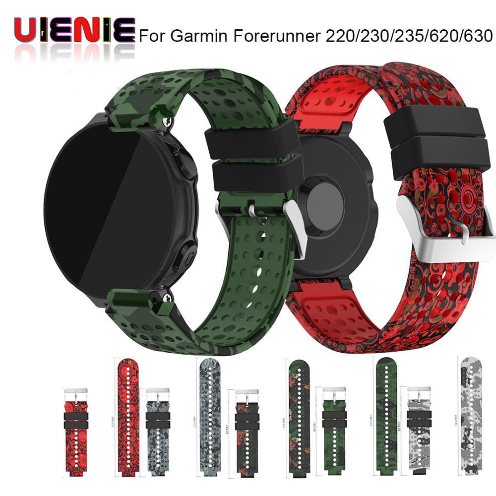 UIENIE New Replacement Silicone Watch Band Outdoor Sport Watchstrap for Garmin Forerunner 735XT/220/230/235/620/630 @JH tempered glass protective film clear guard for garmin forerunner 220 225 230 235 620 630 735xt 935 watch screen protector cover