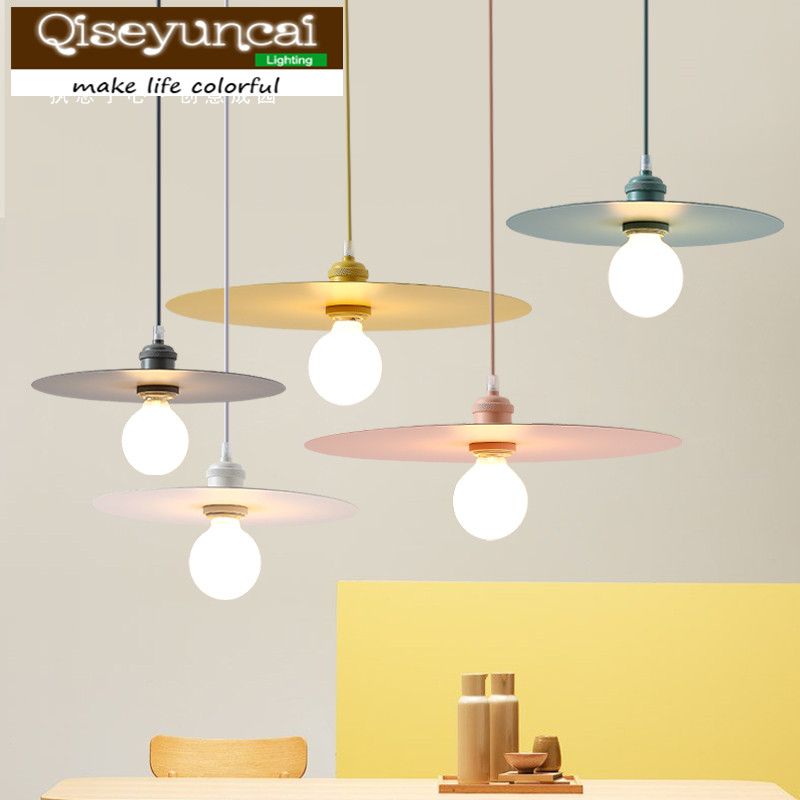 Qiseyuncai 2018 new Nordic creative color macaron restaurant chandelier hotel table cafe clothing store bar lightingQiseyuncai 2018 new Nordic creative color macaron restaurant chandelier hotel table cafe clothing store bar lighting