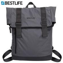 BESTLIFE Men Casual Backpacks PU Leather Flip Mochila Escolar Fashion Male Urban Waterproof Laptop Travel Bags Bagpack Rucksack