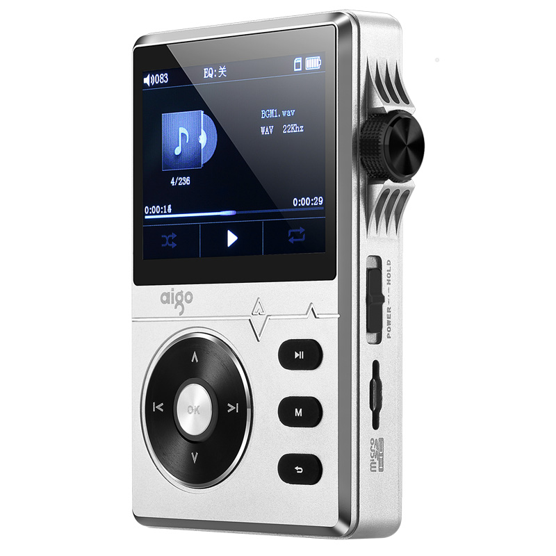 New Original Aigo MP3-108 High-quality 8G Portable Audio Lossless Hifi Music Player Support APE/FLAC/ WMA/ WAV/OGG/ACC/MP3 2016 brand new aigo eros q high quality dsd64 bluetooth 4 0 portable audio lossless hifi music player usb dac support otg
