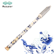 Chinese Ethnic Instrument Bamboo Detachable Pipe BaWu Flute G / F Tone + Cloth Bag